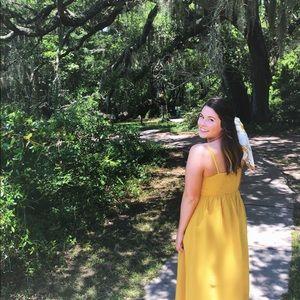 Yellow Button & Tie Midi Sundress